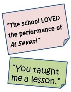The school LOVED At Seven!